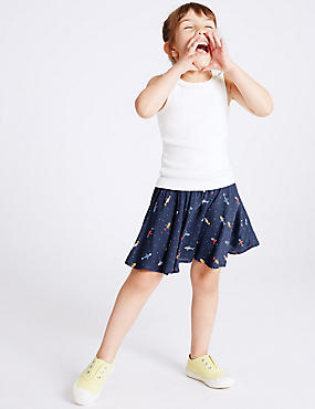Fish Print Pleated Skirt (3 Months - 5 Years)