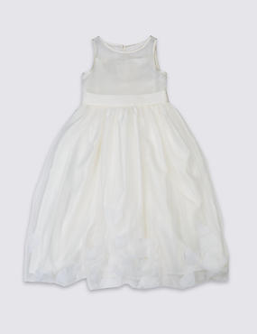 Longer Length Petal Hem Dress (1-14 Years)