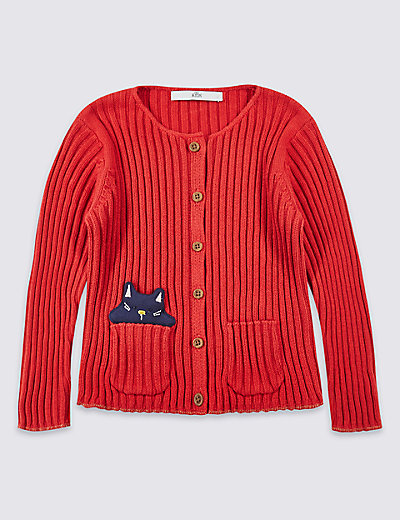 pure cotton cardigan with staynew� 3 months 5 years mamps
