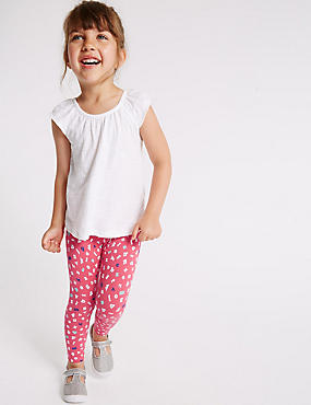 Printed Cotton Leggings with Stretch (3 Months - 5 Years)