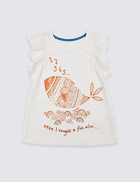Pure Cotton Short Sleeve Top (3 Months - 5 Years)