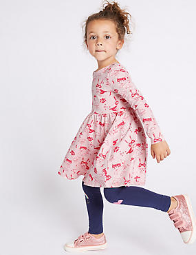 Pure Cotton Printed Dress (3 Months - 7 Years), PINK MIX, catlanding