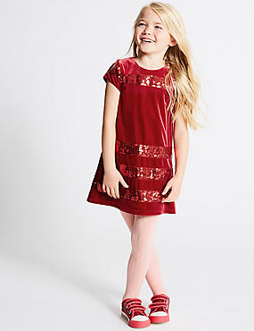 Striped Sequin Dress (1-10 Years)