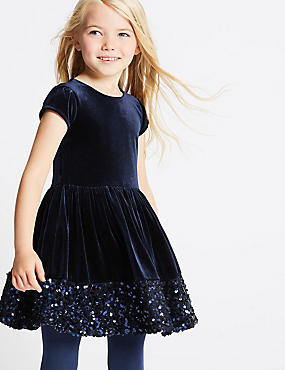 Sequin Velvet Dress (1-10 Years)