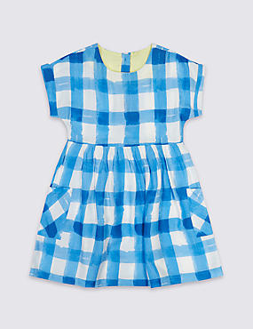 Checked Print Dress (3 Months - 5 Years)