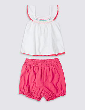2 Piece Top & Shorts Outfit (3 Months - 5 Years)