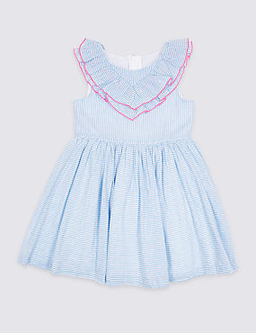 Striped Ruffle Dress (3 Months - 7 Years)