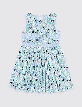 Ditsy Bow Dress (3 Months - 7 Years)