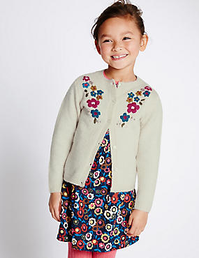 Embroidered Neck Cardigan (1-7 Years)