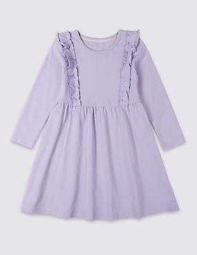 Frill Pure Cotton Dress (3 Months - 7 Years)