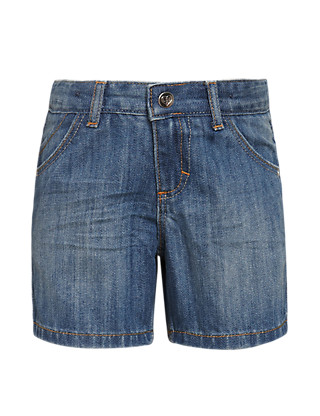 Pure Cotton Adjustable Waist Denim Shorts (1-7 Years) Clothing