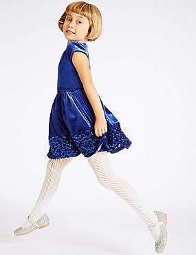 Sequin Base Velvet Dress (1-10 Years)