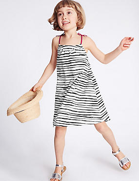 Pure Cotton Striped Jersey Dress (3 Months - 5 Years)