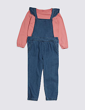 2 Piece Frill Jumpsuit & Top Outfit (3 Months - 7 Years)