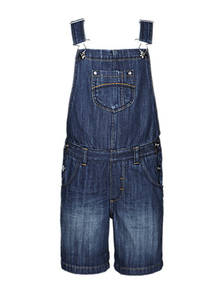 Pure Cotton Dungaree Shorts (1-7 Years) Clothing