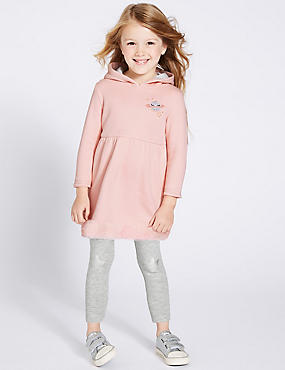2 Piece Hooded Top & Leggings (3 Months -7 Years), PINK MIX, catlanding