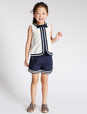 2 Piece Pure Cotton Top & Shorts Outfit (1-7 Years)