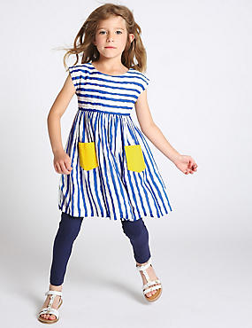 2 Piece Striped Top & Leggings Outfit (1-7 Years)