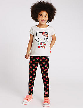 2 Piece Hello Kitty Cotton Rich Top & Leggings Outfit (1-7 Years)