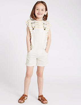 Cotton Rich Short Denim Dungarees (1-7 Years)