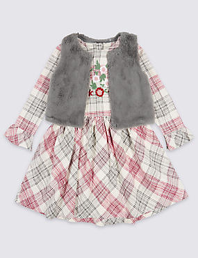 2 Piece Dress with Gilet Outfit (3 Months - 6 Years)