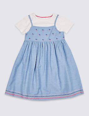 2 Piece Dress & Top Outfit (3 Months - 7 Years)