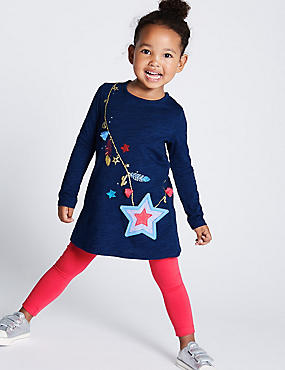 2 Piece Top & Leggings Outfit (3 Months - 7 Years), NAVY, catlanding