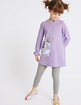 Unicorn Jersey Outfit (3 Months - 7 Years), LILAC, catlanding