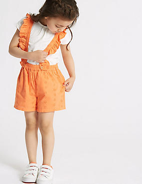 2 Piece Top & Pinafore Outfit (3 Months - 7 Years), CORAL MIX, catlanding