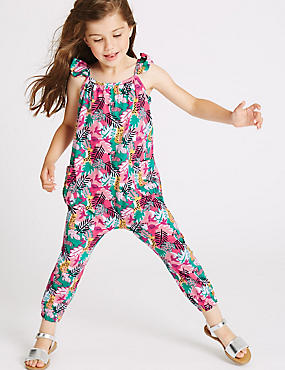Pure Cotton All Over Print Jumpsuit (3 Months - 5 Years)