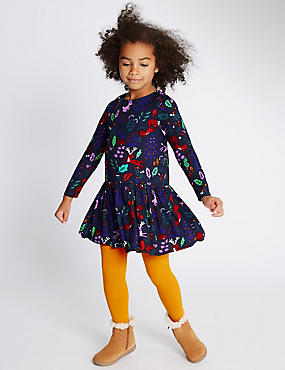 2 Piece Dress with Tights (1-7 Years)