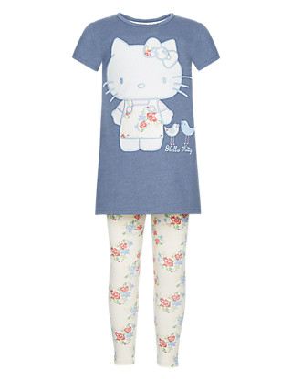 Hello Kitty Tunic & Leggings Girls Outfit with Stickers (1-7 Years) Clothing