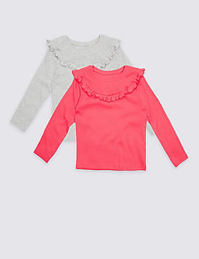 2 Pack Cotton Rich Frill Tops (3 Months - 5 Years)