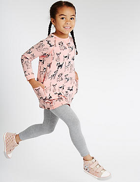 Cotton Rich Sweat Tunic & Legging Outfit with StayNEW™ (1-7 Years)
