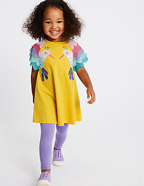 2 Piece Top & Leggings Outfit (3 Months - 7 Years), YELLOW MIX, catlanding