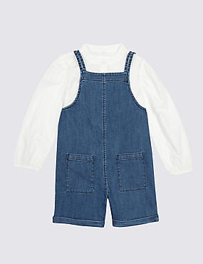 2 Piece Shirt & Dungarees Outfit (3 Months - 5 Years)