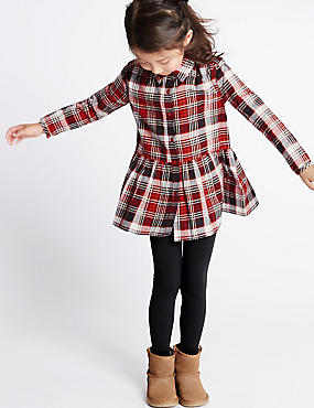Cotton Rich Checked Tunic & Leggings Outfit (1-7 Years)
