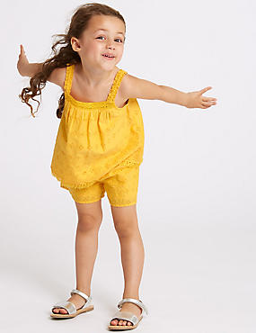 2 Piece Top & Shorts Outfit (3 Months - 7 Years), YELLOW MIX, catlanding