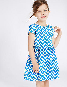 Pure Cotton Zigzag Dress (3 Months - 5 Years)