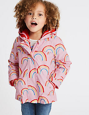 3 in 1 Rainbow Hooded Mac (3 Months - 7 Years), PINK MIX, catlanding