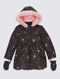 All Over Print Padded Coat with Stormwear™ (3 Months - 7 Years)