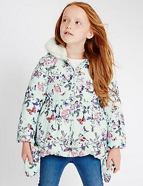 Floral Print Padded Coat with Stormwear™ (1-7 Years)