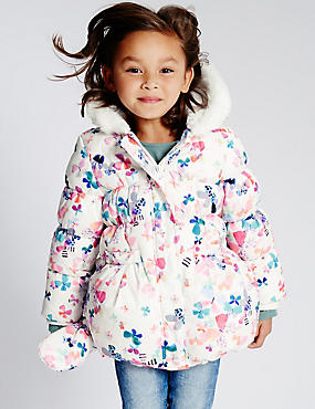 Butterfly Print Padded Coat with Stormwear™ (1-7 Years)