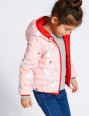 Reversible Lightweight Coat (3 Months - 7 Years), RED MIX, catlanding