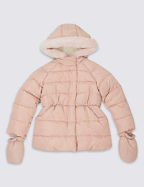 Faux Fur Padded Coat with Stormwear™ (3 Months - 7 Years)