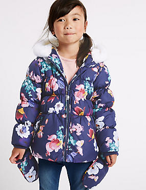 Girls Blue Jackets & Coats | Navy & turquoise Kids Jacket | M&S