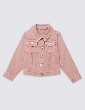 Cotton Denim Jacket with Stretch (3 Months - 5 Years)