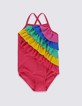 Rainbow Frill Swimsuit with Lycra® Xtra Life™ (0-5 Years)