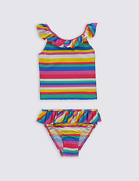 Striped Frill Tankini Set with Lycra® Xtra Life™ (0-5 Years)