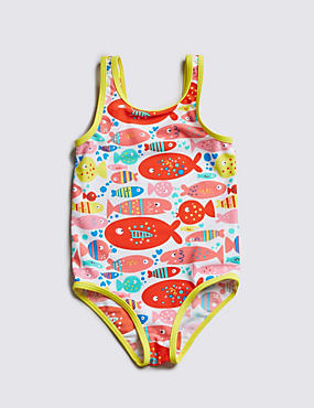 Lycra® Xtra Life™ Fish Print Swimsuit (1-7 Years)